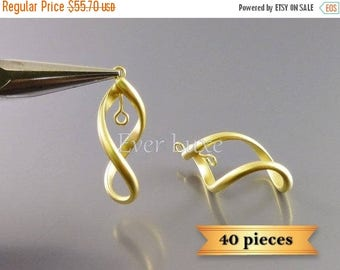 10% SALE 40 pcs unique twisted 3D infinity jewelry connectors / abstract coiled charms 928-MG-Bulk (40 pieces)