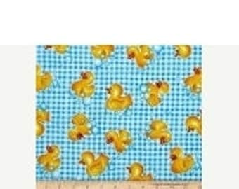 Rainy Day Ducks--Great Quilting fabric--Hard Find -- SALE--LAST Piece