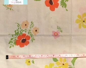 Vintage Pillowcase with Orange Flowers