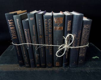 Black & Copper Book Decoration - Ten Dark Books by the Foot - Instant  Book Collection - Books for Decor Vintage