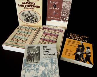 Black African American History Culture - Civil Rights Slavery Segregation Black Rights - Vintage Books Paperback