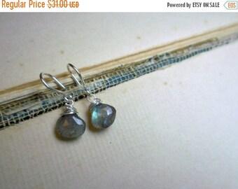 The  Spirit Tear Earrings. Labradorite Earrings. Drop Earrings. Labradorite Jewelry. Gemstone Jewelry. Dangle Earrings Sterling Silver