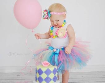 Birthday Tutu | 1st Birthday Tutu Dress | Baby Birthday Tutu | Cake Smash Tutu | Tutu Skirt | Pink Birthday Tutu | Rainbow Tutu