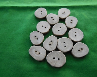 13 Antler Buttons lot 158