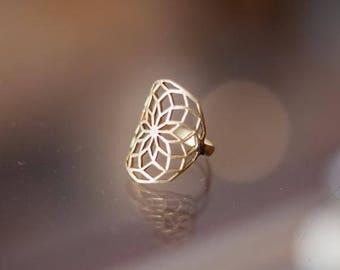Star of life brass Ring, Sacred Geometry Jewelry, brass Ring, Silver Jewellery, protection jewellery, tribal ring, flower of life, Tribu