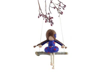 Needle Felted Fairy Doll - LIMITED POLKA DOT edition