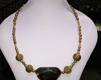 Etheopian Goddess Designed Wired Custom Necklace Created by Yoyos Creative Jewelry Designs