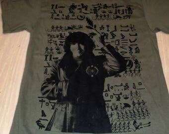 T-Shirt - Jerry Hieroglyphs (Black on Army)