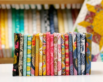 Floral Waterfall - Fat Eighth Fabric Bundle by Shannon Newlin - 19 prints