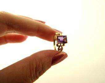 Amethyst Ring - 10k Gold - Vintage