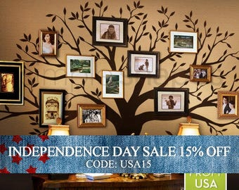 Independence Day Sale - Tree Wall Decal, family Tree Wall Decal Sticker - Living Room Wall Decals - wall graphic