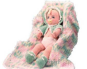 Vintage Crochet Pattern Baby  Doll - download PDF