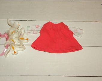 Orange Jumper and Circle Patterned  Tshirt - 12 inch doll clothes
