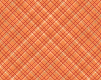 Orange Plaid - Bee Backings and Borders by Lori Holt Bee in my Bonnet for Riley Blake - Wide Back