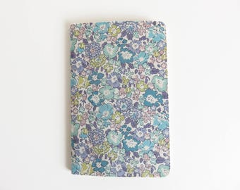 Liberty Lawn 'Michelle D' Fabric Cover Moleskine Cahier Pocket Notebook