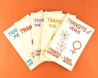 vintage astrology book. frances sakoian & louis acker. transits sun. transits the moon. transits of venus. transits mars. mercury transits