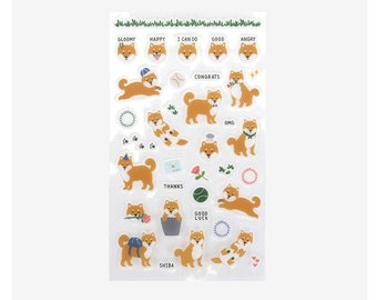 Cute stickers -Shiba dog or Jindo dogs