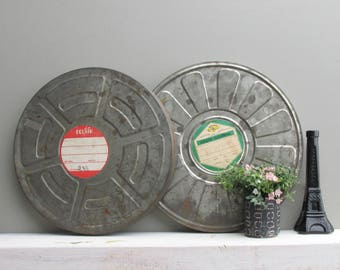 Industrial décor - movie canisters – retro movies