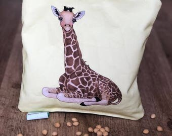 Cherry Pit Heating Pad for Babies - Giraffe Cherry Pit Pillow - Cherry Pit Pack - Christmas Gift - Stocking Stuffer - Baby Shower Gift
