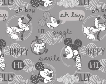 Friends in  Gray-  Licensed Disney Fabric  - you choose the cut
