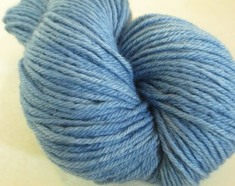 Hand-Dyed Indigo Yarn - Homegrown Plant Dye - Tonal Wool Worsted Weight - YAW101706 - 100 grams