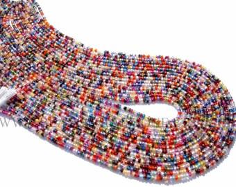 Multi Color Cubic Zirconia Faceted Rondelle Bead (Quality AA+) 2.30 to 2.50 mm / 36 cm / CUB-001, Kulek cyrkonowych sześciennych