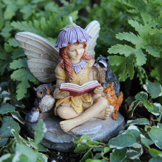 "Fairy Jamie and her Forest Friends (2.5"" Tall) for the Fairy Garden"