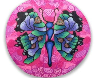 Happiness Butterfly Polymer Clay Cane Silly Milly