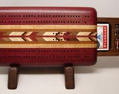 Cribbage Board, Cribbage, Board Game, Handmade Game, 2 Player, Up and Down, Purpleheart