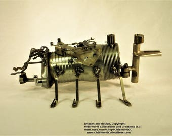 Welded Steel Industrial Steam insect Sculpture