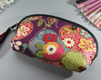 "7"" Golden Purple multicolore make up pouch - Yuka"