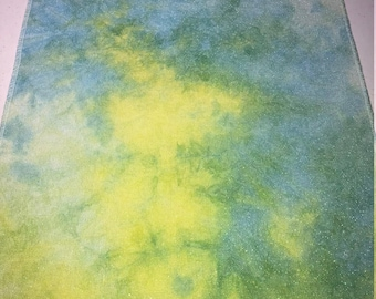 Hand Dyed 28 ct linen opalescent cross stitch fabric - 17x26