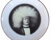 SALE - The Amazing Albino Afro Man Plate 6.5""