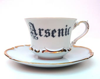Poison Arsenic Altered Vintage Teacup and Saucer