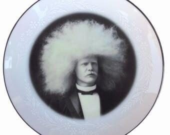"SALE - The Amazing Albino Afro Man Plate 6.5"""