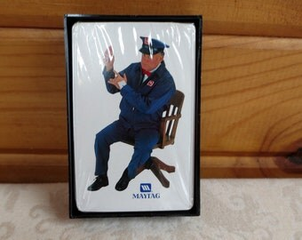 Maytag Repairman Playing Cards, Vintage Deck, Sealed and Plastic Case