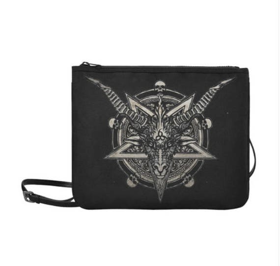 Baphomet 666 Clutch with Shoulder Strap