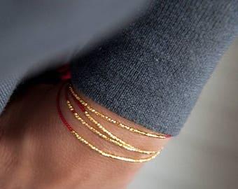 SALE Delicate friendship bracelet, minimalistic bracelet, dainty wish bracelet