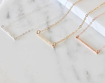 Bar necklace  Delicate bar  dainty necklace