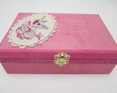 Reserved Listing for annabluhm - Unicorn Time Capsule Wooden Keepsake Boxes