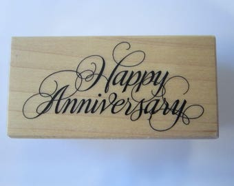 rubber stamp - HAPPY ANNIVERSARY - PSX F-270 - circa 2001