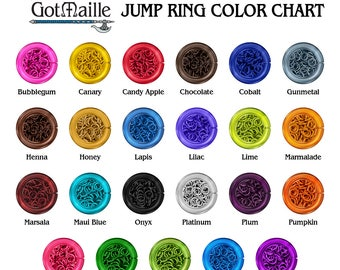 Chainmaille Jump Rings - 18g (AWG) 5mm ID Anodized Aluminum Jump Rings - 1 Ounce - Pick Your Color!