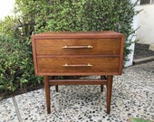 MID CENTURY MODERN Nightstand with 2 Drawers