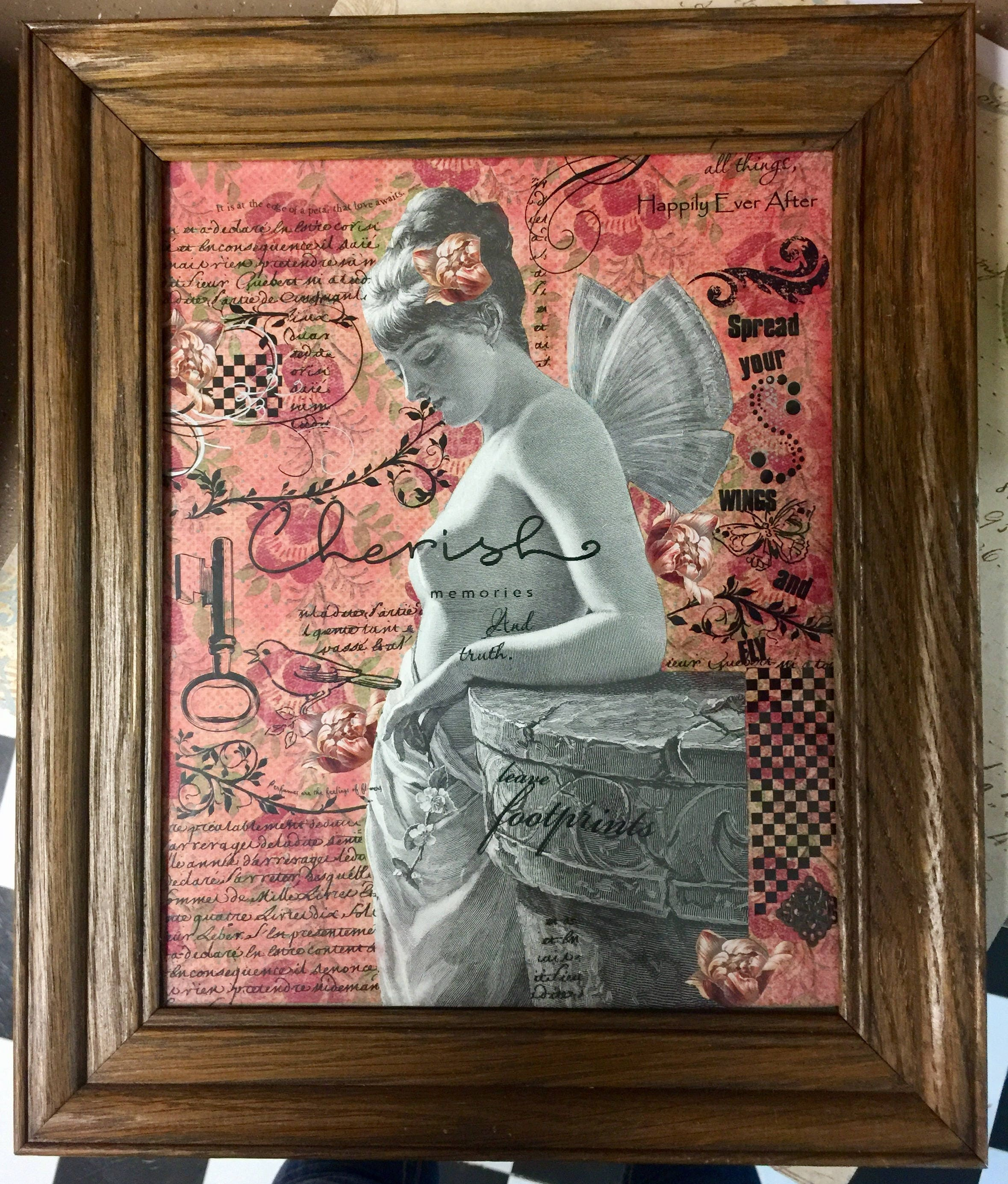 Cherish Your Beauty Another Framed Assemblage By Alteredhead-3200