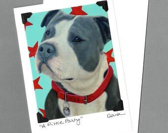 Pit Bull Card - American Staffordshire Terrier - Bull Dog - Bulldog  - Pittie - Proceeds Benefit Animal Charity