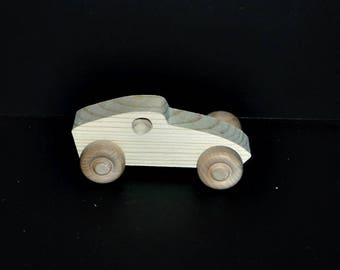 Pkg of 3 Handcrafted Wood Cars 7BH-U-3 unfinished or finished