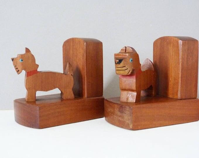 Scottie dog bookends 1960's vintage