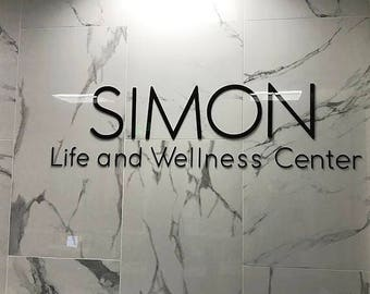 """18""""H 3D Plexiglass Acrylic Letters With Your Own Text - Custom Laser Cut and Engraving-Business Sign 3D Wall Decors Office Wall Art"""