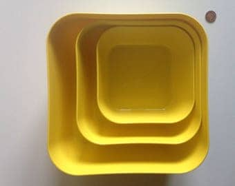 Acid Yellow, Nested Storage Boxes