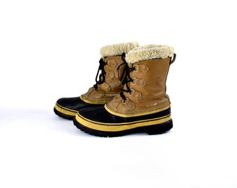 Original KAUFMAN Sorel Caribou All Weather Boots, Made in Canada